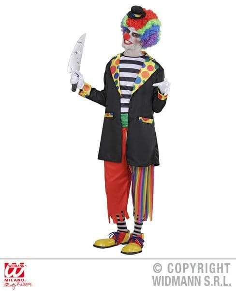 Adults Evil Clown Costume Circus Fancy Dress
