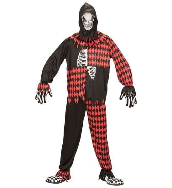 Adults Evil Jester Costume Circus Fancy Dress