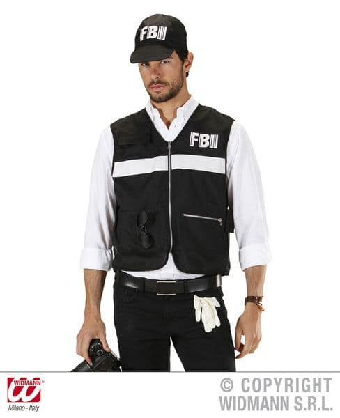 Adults Fbi Crime Scene Investigator Dress-Up Set Police Fancy Dress