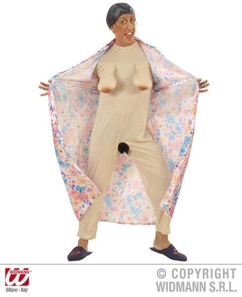 Adults Flasher Granny Costume Hen Stag Fancy Dress