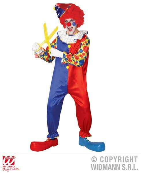 Adults Funny Clown Costume Circus Fancy Dress