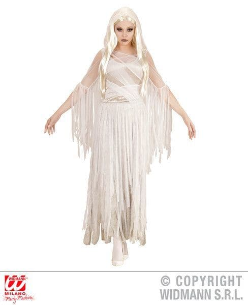 Adults Ghostly Spirit Costume Halloween Fancy Dress