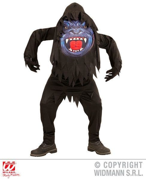 Adults Gorilla Big Head Costume Fancy Dress