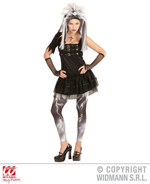 Adults Gothic Punk Girl Costume Fancy Dress