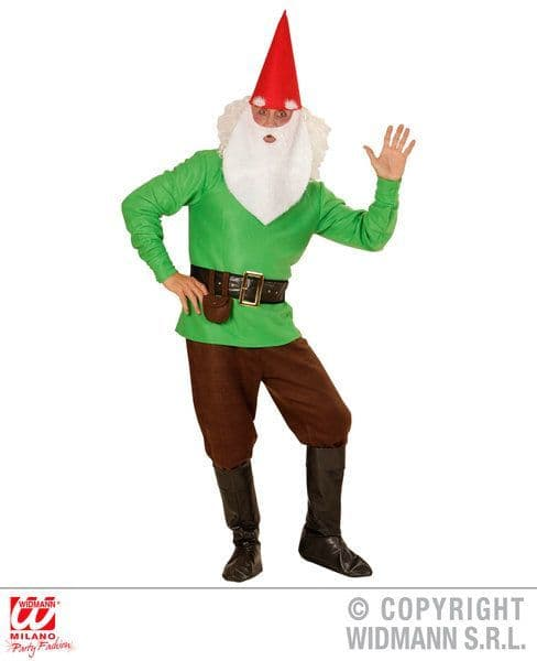Adults Green Gnome Costume Fancy Dress