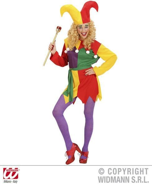 Adults Jolly Jester Costume Circus Fancy Dress