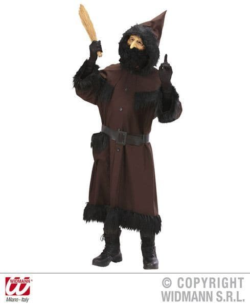 Adults Knecht Ruprecht Heavy Fabric Costume Christmas Fancy Dress