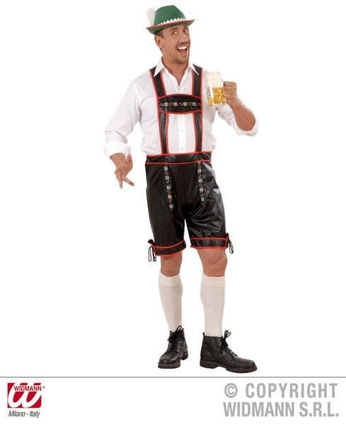 Adults Lederhosen L/Look Costume Fancy Dress