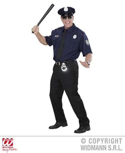 Adults Nypd Police Officer Dress-Up Top Police Fancy Dress