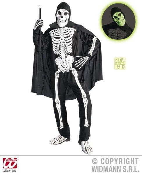 Adults Opera Skeleton Costume Halloween Fancy Dress