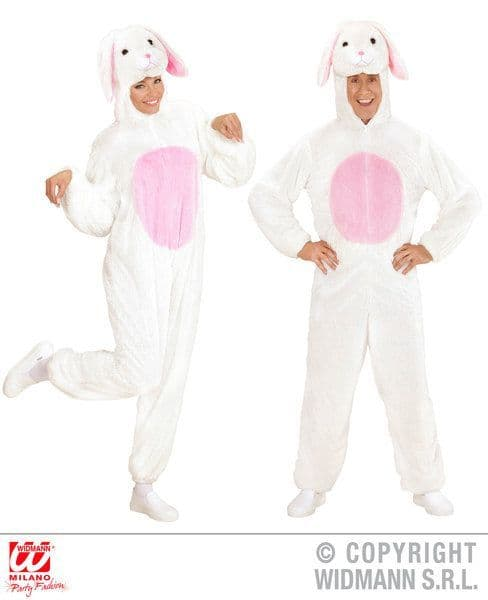 Adults Plush White Bunny Costume Easter Fancy Dress