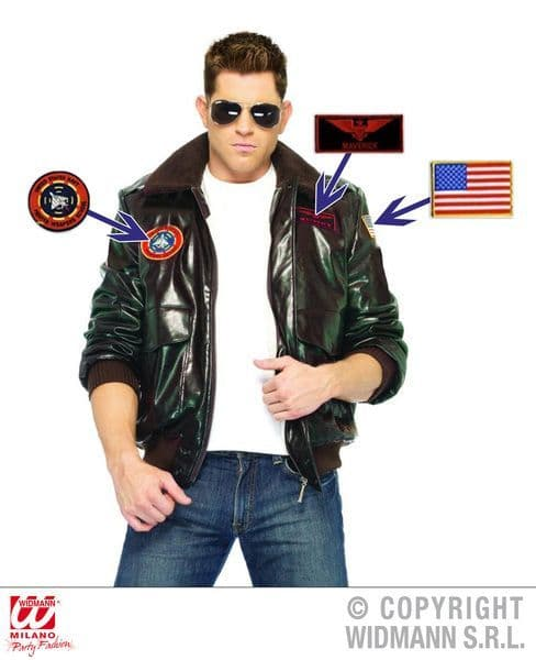 Aviator Jacket Coat Pilot Fancy Dress