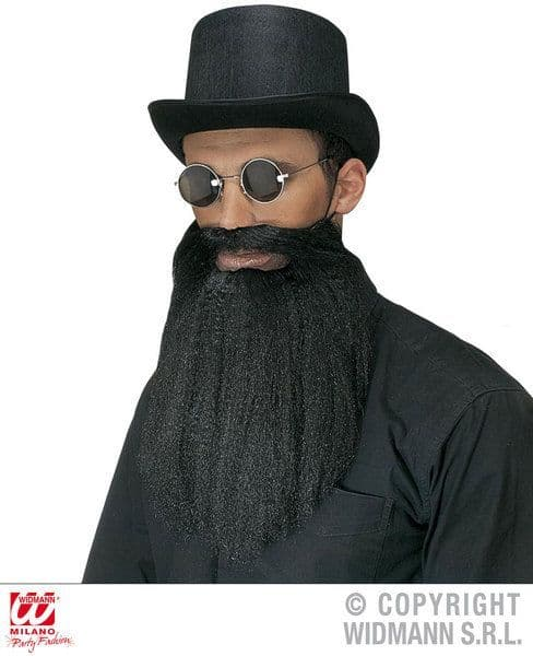 Beard Moustache With Lips Facial Hair Cowboy Wild West Fancy Dress