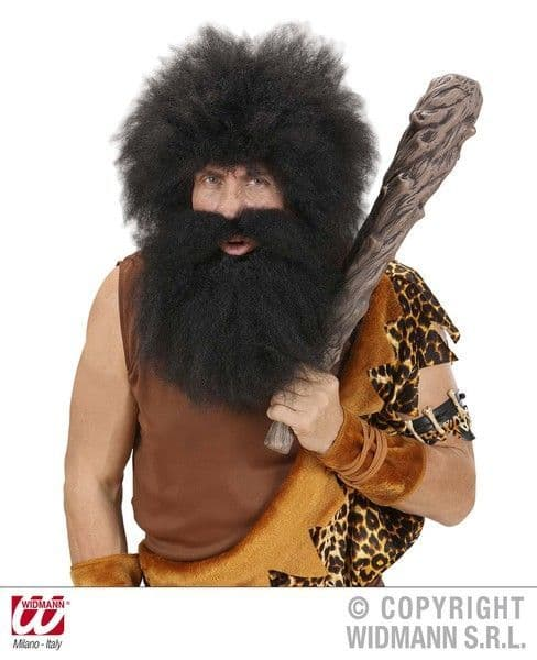 Caveman Beard In Polybag - Facial Hair Caveman Prehistoric Fancy Dress