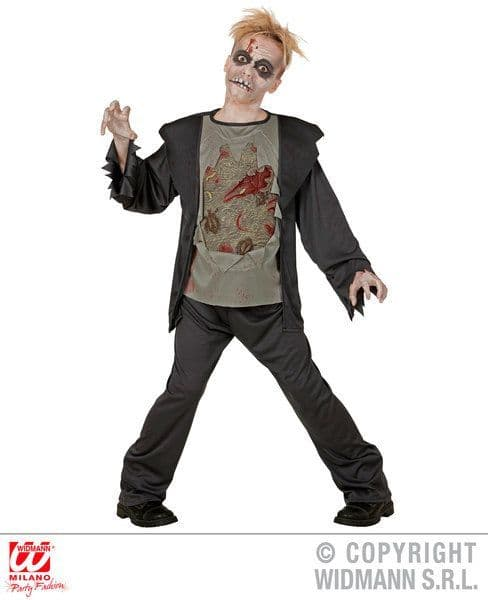 Childrens Zombie Costume Halloween Fancy Dress