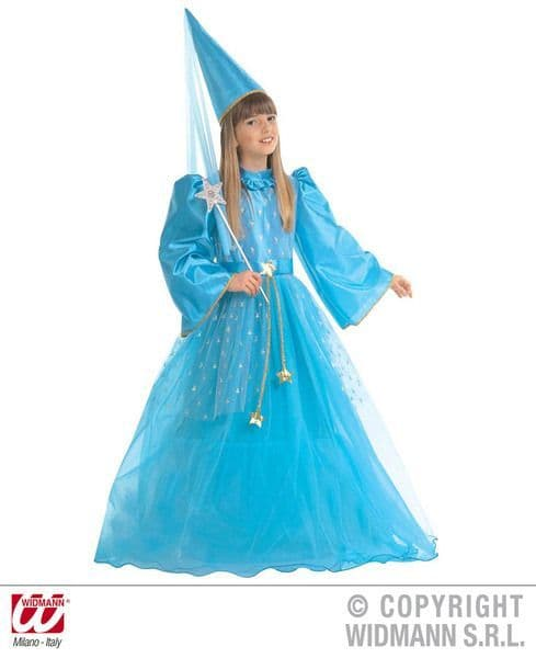Girls Magic Fairy Blue Costume Fancy Dress