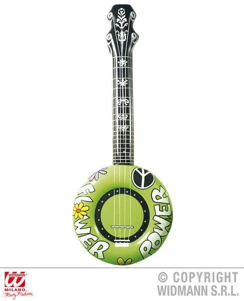 Inflatable Banjo 100cm 60s Fancy Dress Accessory