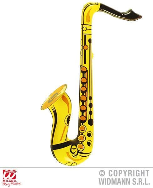 Inflatable Saxophone Fancy Dress Accessory