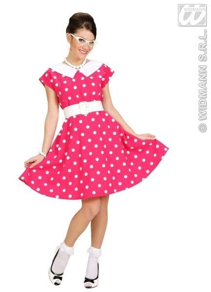 Ladies 50s Lady - Pink Costume 50s Fancy Dress