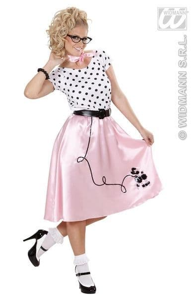 Ladies 50s Poodle Girl Costume 50s Fancy Dress