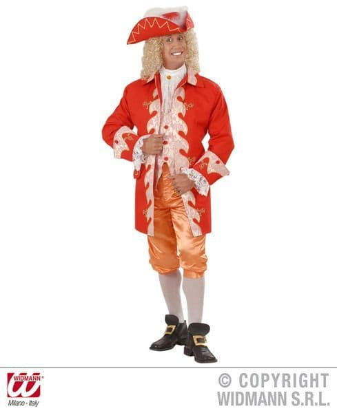 Mens 18th Century French Royal Court Man Costume Fancy Dress
