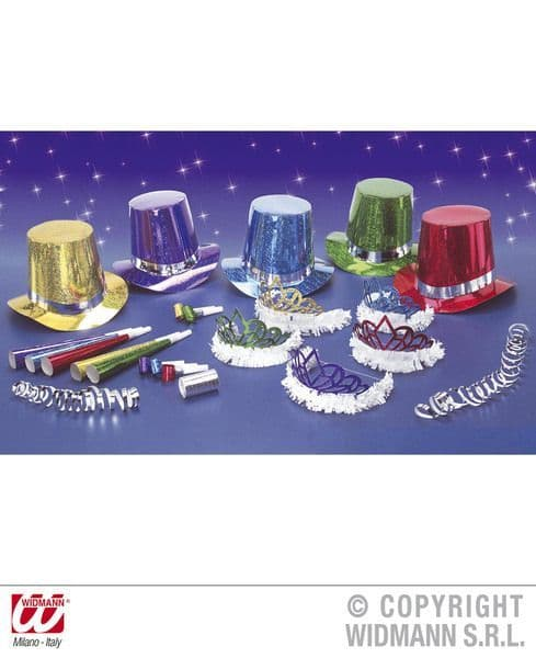 New Year Party Kit 10 Person Hat New Year's Eve Fancy Dress