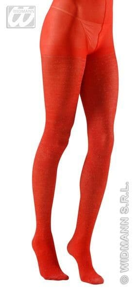 Pantyhose - Glitter Red Stockings Tights Pantyhose Lingerie Fancy Dress