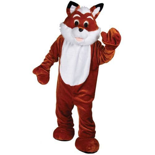Adult Giant Deluxe Mascot Fantastic Fox Costume for Sly Animal Basil Fancy Dress