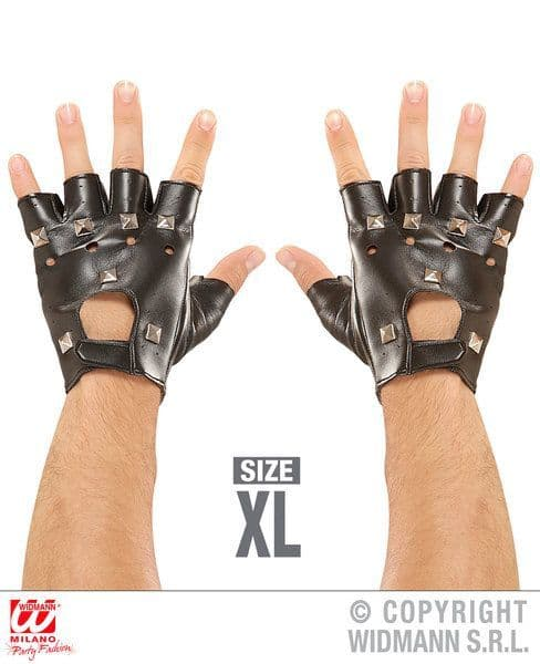 Adult Punk Xl Studded Gloves Leatherlook 70s Anarchist Rock Sex Pistols Crass