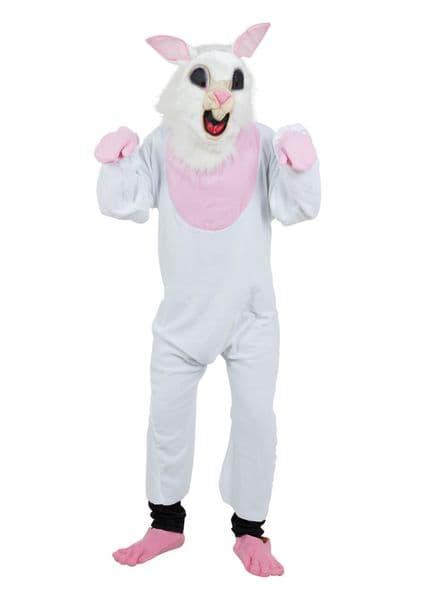 Adults Bunny Budget Costume Rabbit Animals Easter Fancy Dress Outfit