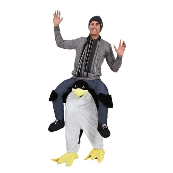 Adults Carry Me Penguin Costume for Artic Pole Animal Sea Bird Fancy Dress