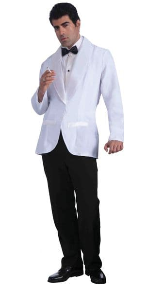 Adults Formal White Jacket Bartender Bond Costume 50s 60s 70s 80s Fancy Dress