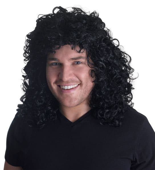Adults Glam Rock Wig Rockabilly 60s Vintage Retro Fancy Dress
