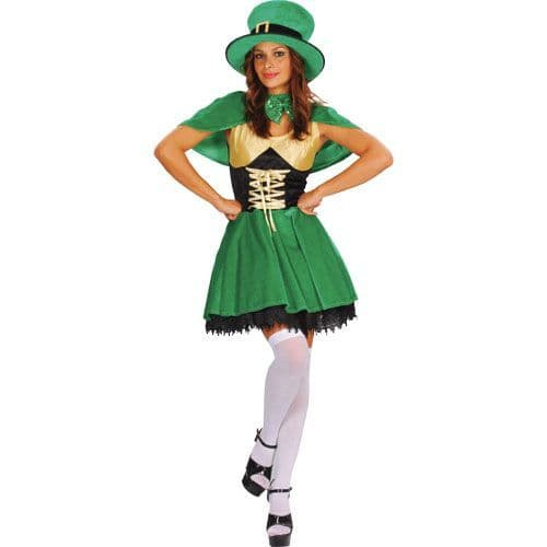 Adults Ladies Lucky Leprechaun Costume for St Patricks Days Ireland Fancy Dress