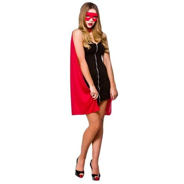 Adults Ladies Super Hero Cape Costume for Superhero Fancy Dress 34
