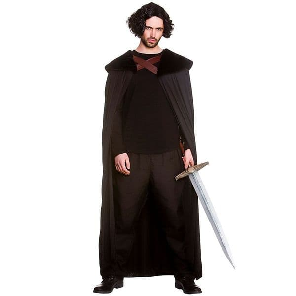 Adults Medieval Hero Robe for Mens Game of Thrones style Fancy Dress Costume