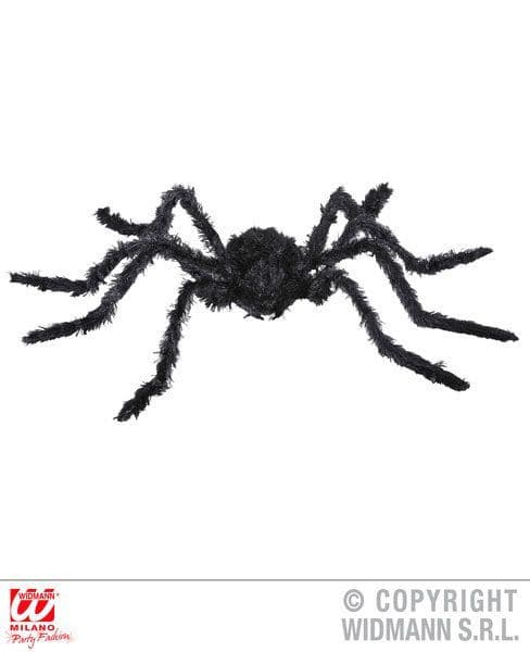 Animated Black Spider Moving Legs Light Eyes Sound 90cm Decoration Halloween