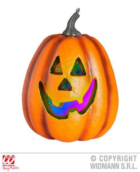 Animated Halloween Pumpkin Color Change Flashing Led Light 23cm Decoration Party