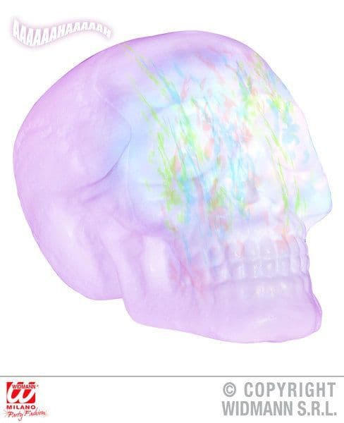Animated Skull Change Kaleidoscope Lights & Sounds 32cm Decoration Halloween