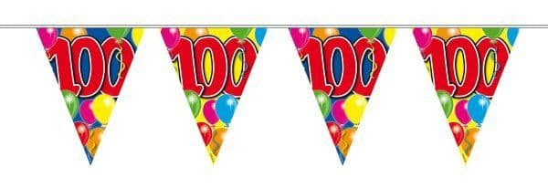 Balloon Design Bunting 100th Birthday