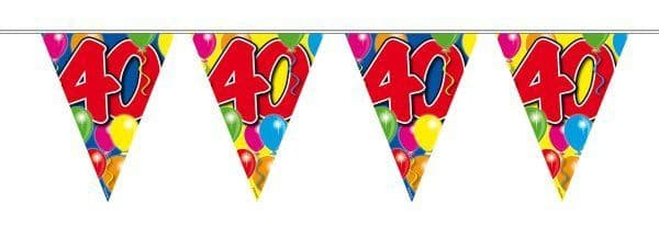 Balloon Design Bunting 40th Birthday