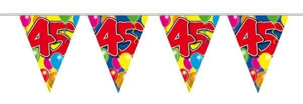 Balloon Design Bunting 45th Birthday