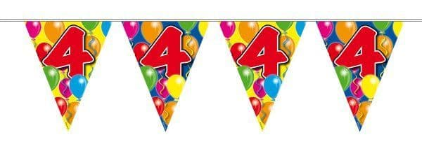 Balloon Design Bunting 4th Birthday