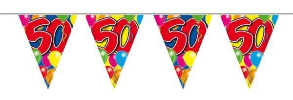Balloon Design Bunting 50th Birthday