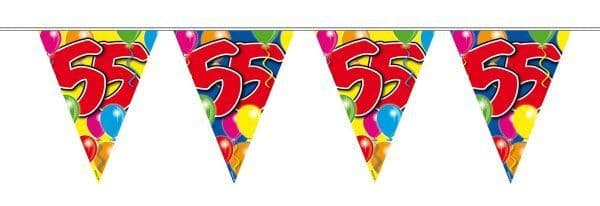 Balloon Design Bunting 55th Birthday