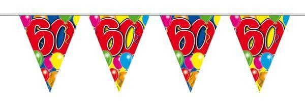 Balloon Design Bunting 60th Birthday