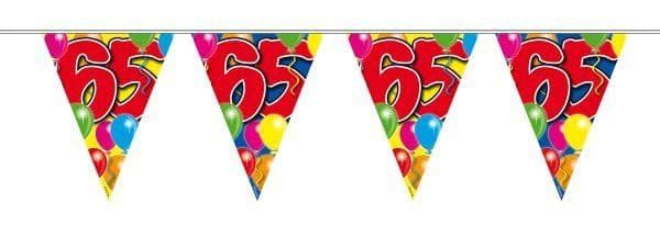 Balloon Design Bunting 65th Birthday