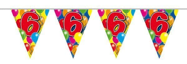 Balloon Design Bunting 6th Birthday
