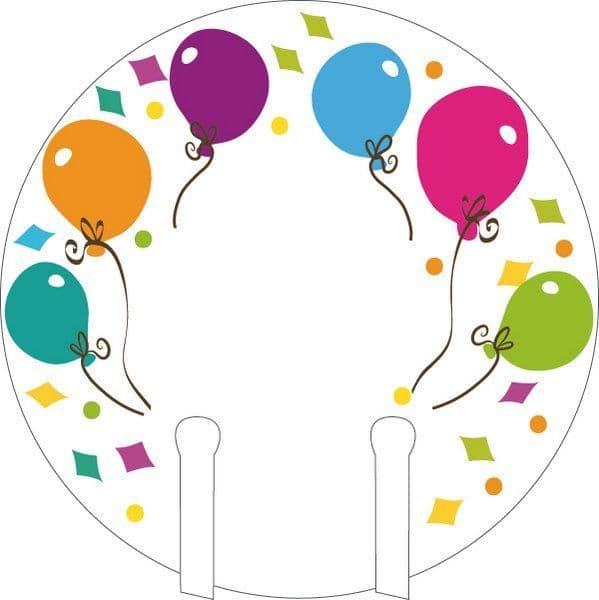 Balloon Party Glass Markers 12's