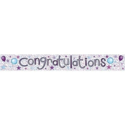Banner Congratualtions Graduation Driving Job Engagement Party Decoration